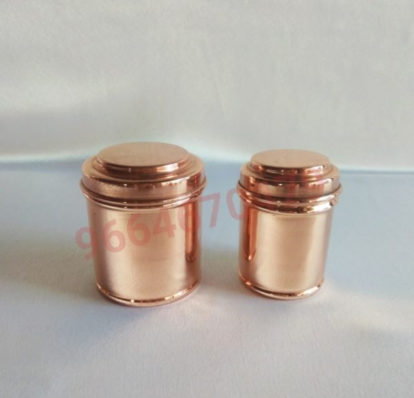 2 PIECE DABBA SET - COPPER MINIATURE